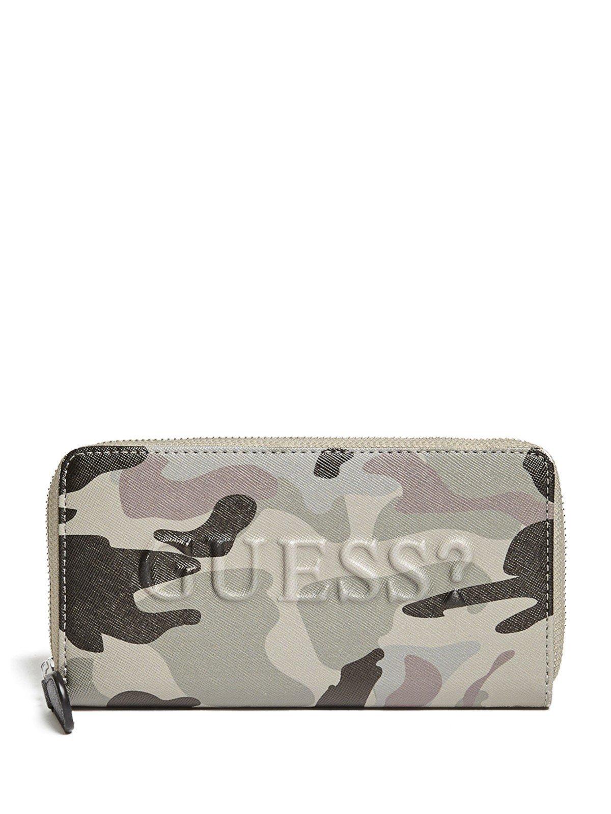 GUESS Factory Women's Rigden Camo Zip-Around Wallet