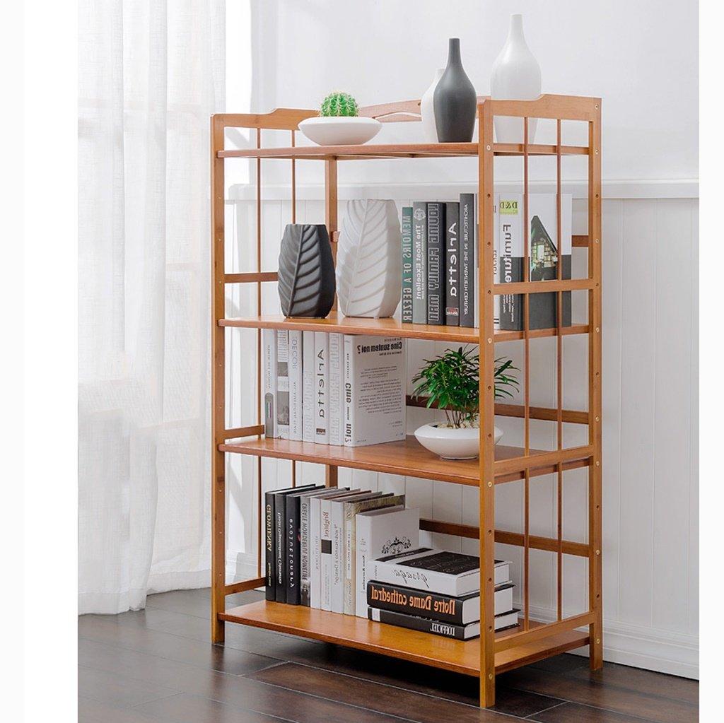 WEBO Home- Wohnzimmer Regal Boden Bücherregal einfache Moderne Schlafzimmer Lagerregal mehrstöckige Massivholz Lagerregal -Regal (Farbe   60)
