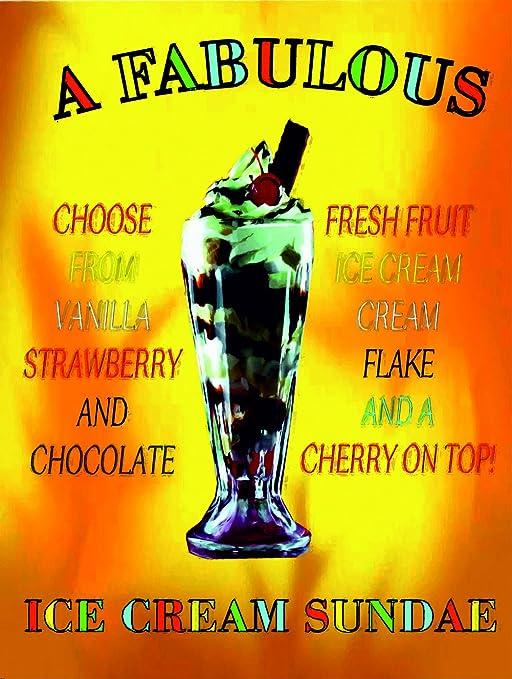 P4128 un fabuloso helado sundae Gracioso cartel: Amazon.es ...
