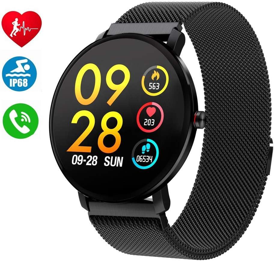 Smartwatch para Hombres Mujeres Niños,Reloj Inteligente Bluetooth ...