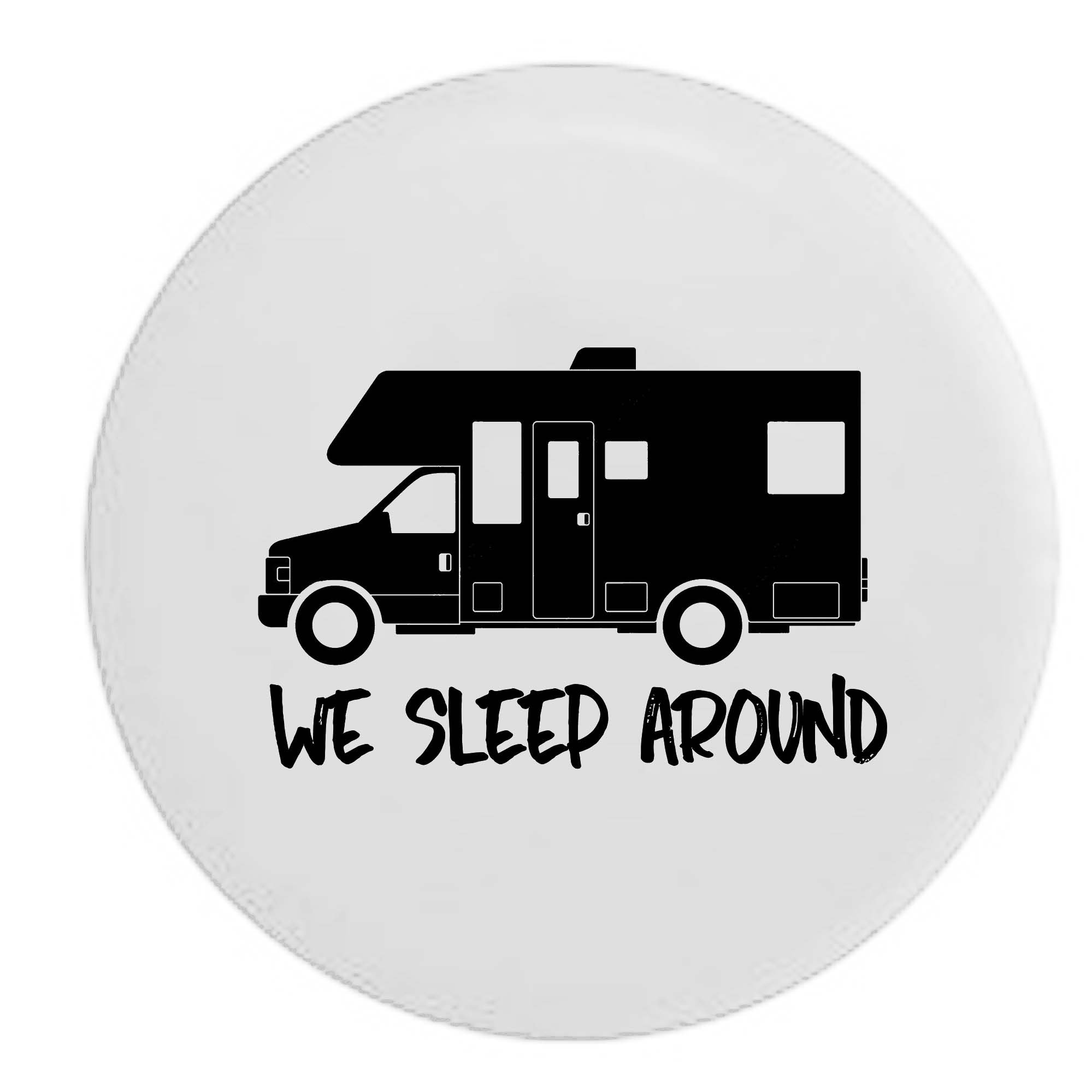 Pike Outdoors We Sleep Around Motorhome RV Camper Spare Tire Cover OEM Vinyl White 32 in by Pike Outdoors