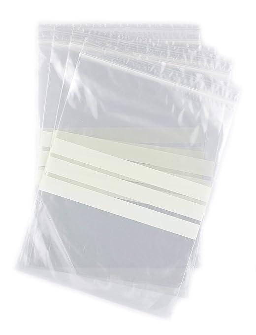 Bolsas autocierre con franjas para escritura 16 x 22 cm ...