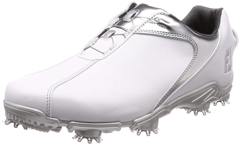 [フットジョイ] ゴルフスパイク FJ SPORT Boa (エフジェー スポーツ ボア) 53142 メンズ 26.5 cm ホワイト/シルバー2018モデル B07FRGJ7L7