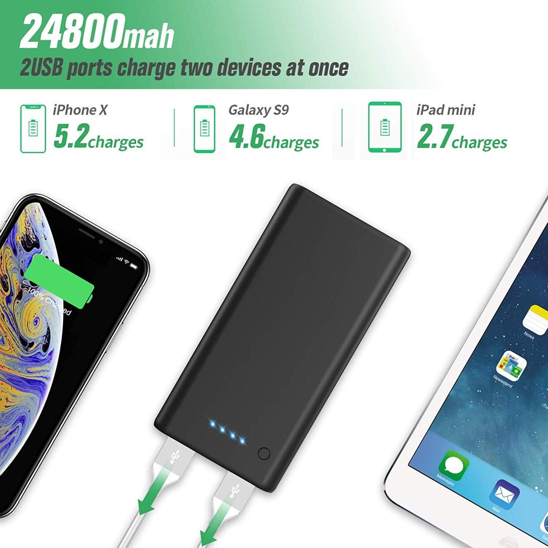 Ekrist 2020 Nvona Powerbank 24800mah, Caricabatterie