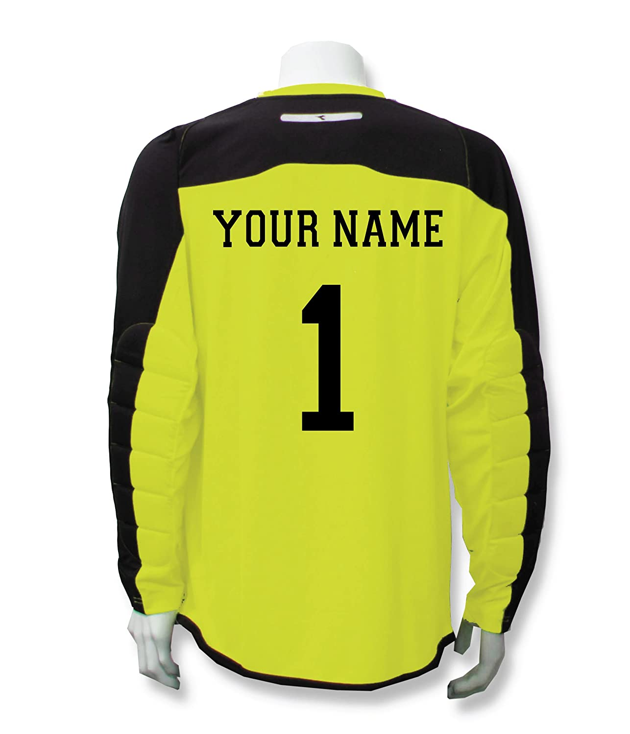 Diadora Enzo Goalkeeper Jersey Personalized with your name and number B01LZ01CYC Youth Medium|Matchwinner Yellow Matchwinner Yellow Youth Medium