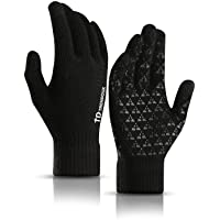TRENDOUX Winter Gloves for Men and Women - Upgraded Touch Screen Anti-Slip Silicone Gel - Elastic Cuff - Thermal Soft…