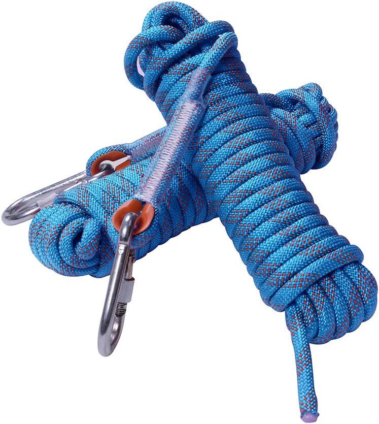 Rock Climbing Rope, 12mm Diameter Static Outdoor Hiking Accessories High Strength Cord Safety Rope (10m, 32ft)(20m, 65ft) (30m, 98ft) (40m, 131ft) (50m, 164ft) : Sports & Outdoors