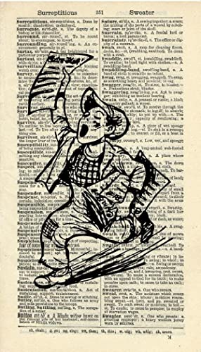 Amazon.com: NEWSPAPER BOY ART PRINT - VINTAGE ART PRINT - Art Print ...