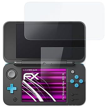 atFoliX Lámina Protectora de plástico Cristal para Nintendo ...