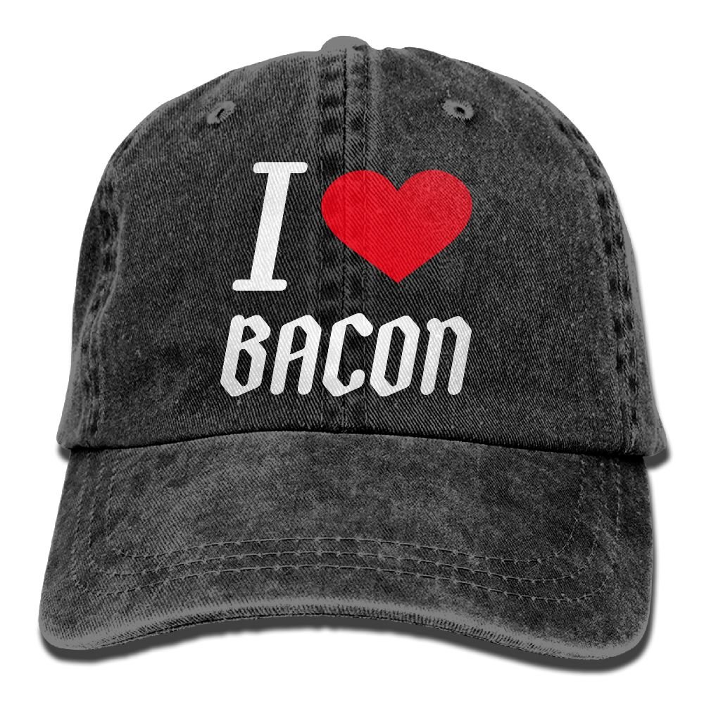 Trableade I Love Bacon Adult Sport Adjustable Structured Baseball Cowboy Hat