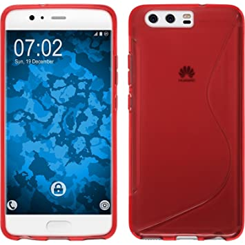 more photos a185e a848f Silicone Case for Huawei P10 Plus - S-Style red - Cover: Amazon.co ...