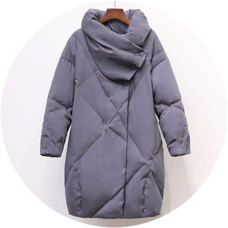 bluee Talk about heaven Duck Down Coat Women Winter Clothing 2018 Female Jacket Knee Length Vintage Down Jacket