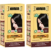 Indus Valley Botanical Indus Black Hair Colour For Hair Nourishment & Scalp Treatment (Set of 2)