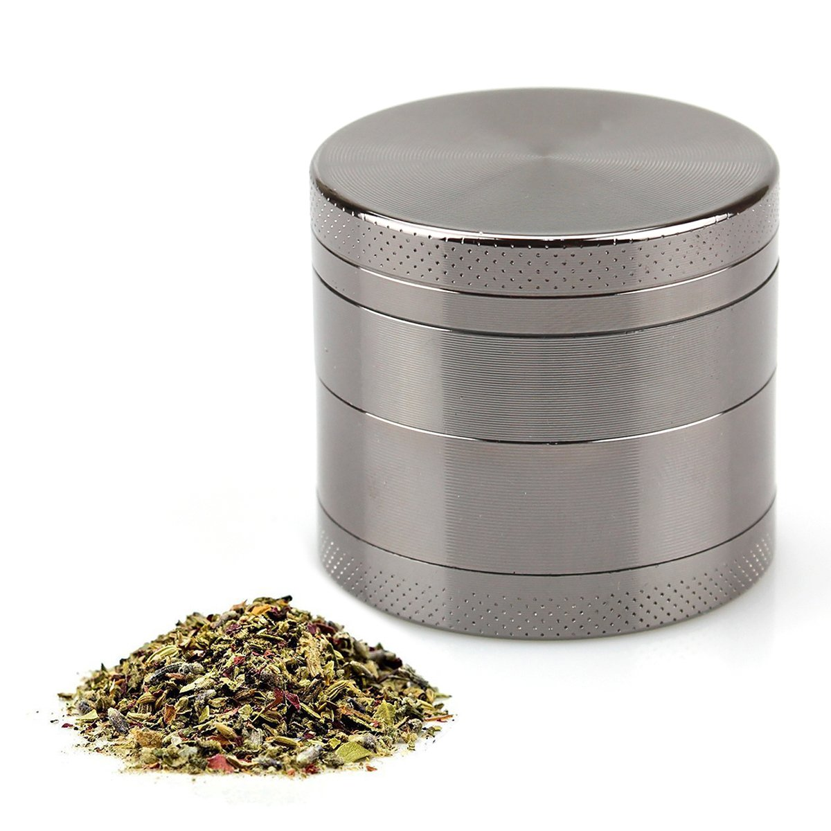 Unicoco Grinder Spices Grinder Metal Crusher for Herbs Tobacco 4Parts Very Durable