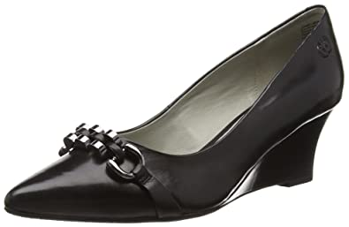 GERRY WEBER Shoes Affi 03, Damen T-Spangen Pumps, Schwarz (Schwarz 100