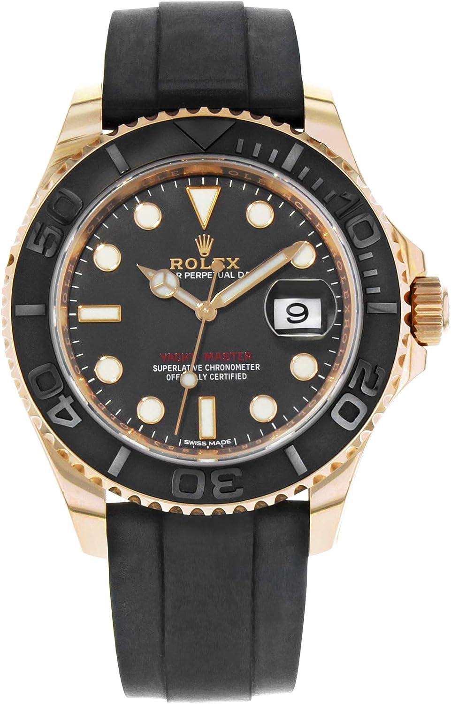 Rolex Yacht-Master 40 Everose Gold Ceramic Bezel Rubber Strap 116655