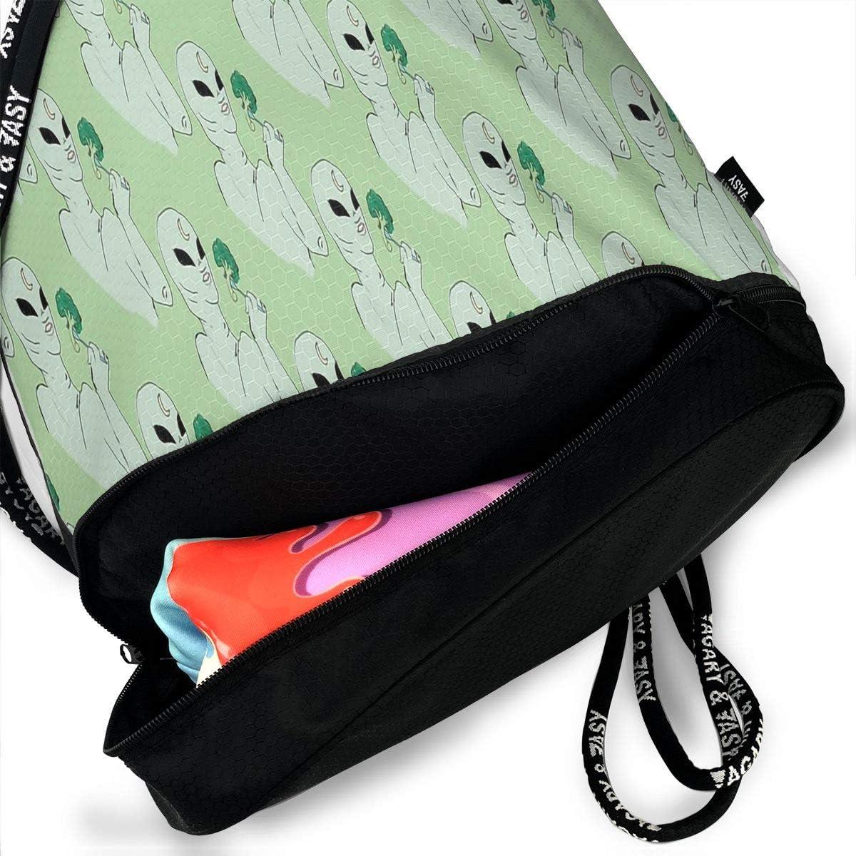 Drawstring Backpack Broccoli Shoulder Bags