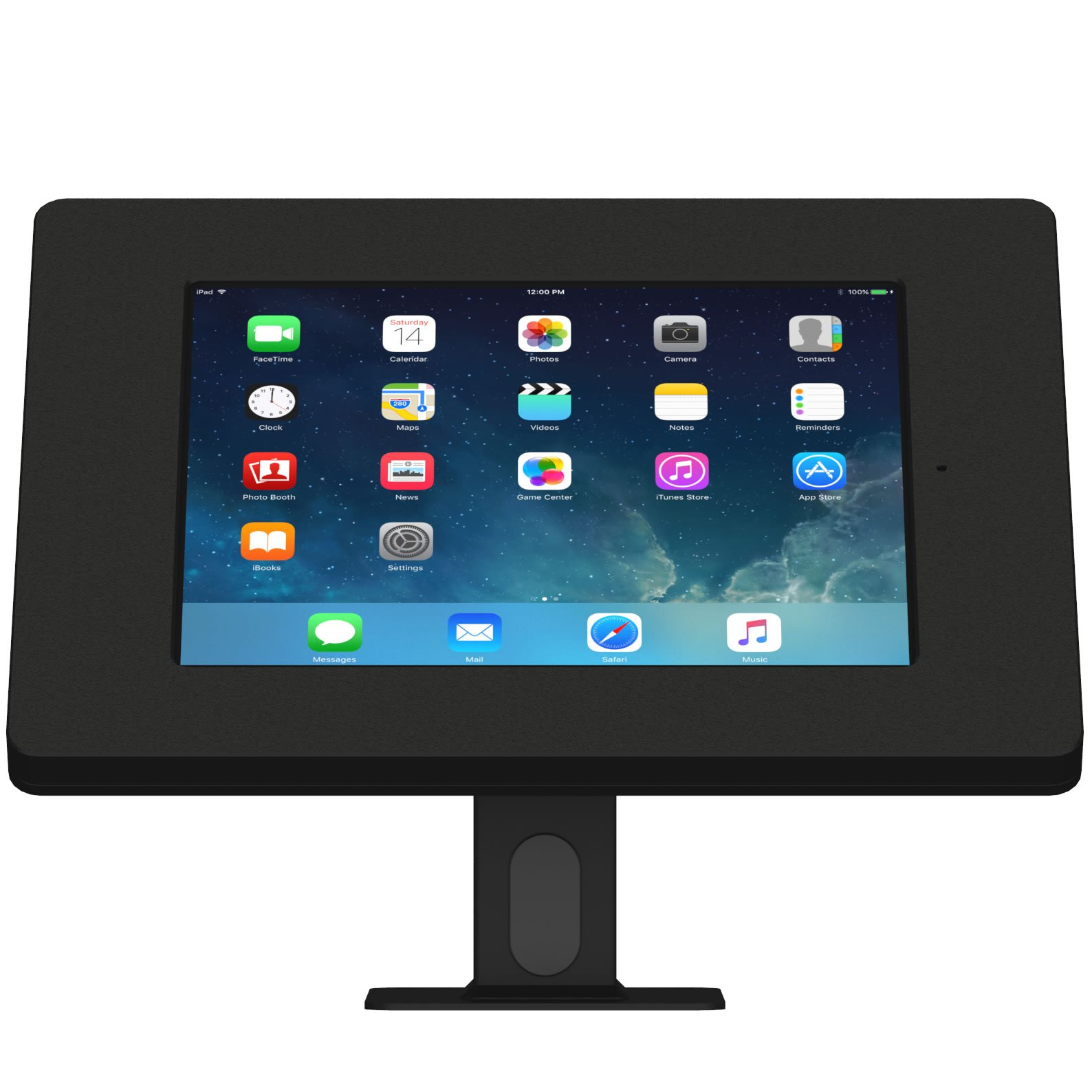 iPad (5th Gen) 9.7/Pro, Air 1/2 Black Covered Home Button Rotating & Tilting Desk/Table Mount [Bundle] by VidaMount (Image #1)