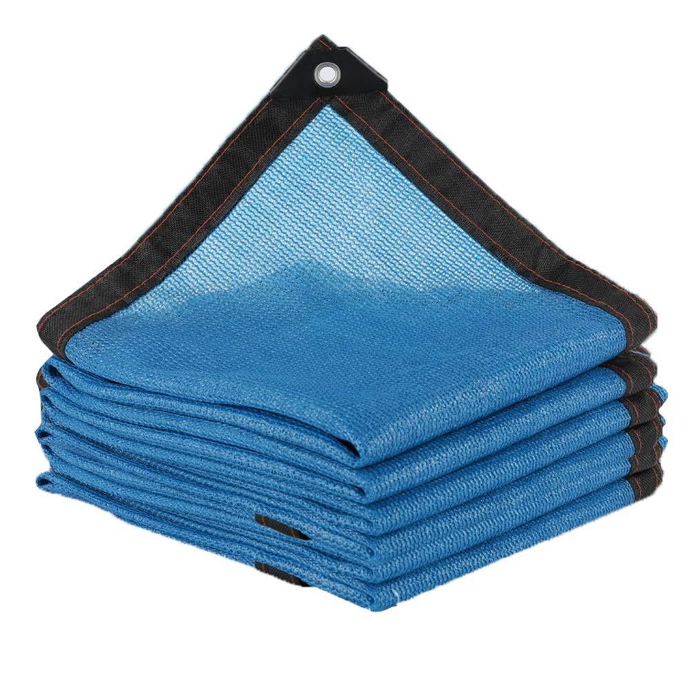 LIANGLIANG-fang shai wang Rete Parasole Serre Antivento Crittografia Piante da Copertura Protezione Solare Anti-UV Traspirante, Blu, Personalizzabile (colore   Blu, Dimensioni   6x10m)
