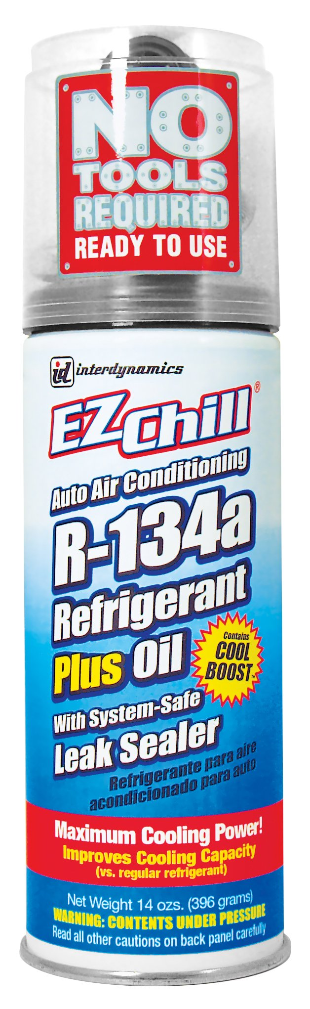 Interdynamics (SD-134CA-12PK) EZ Chill R-134a Refrigerant with Oil and Leak Sealer - 13 oz., (Pack of 12)
