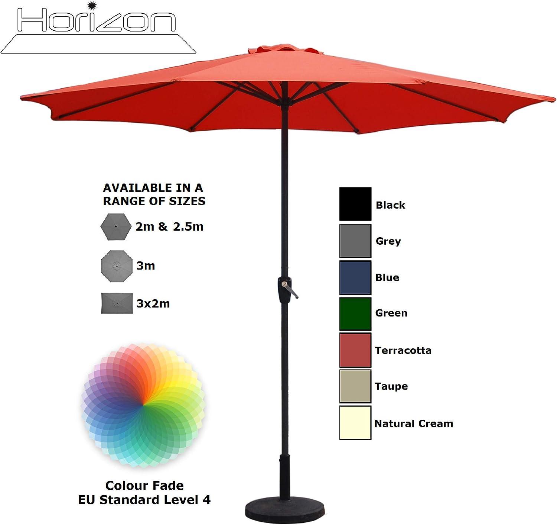 Aluminium Crank Parasols 2m 2.5m 2.7m 3m 3x2m Full /& Half//Balcony 2.5m, Taupe
