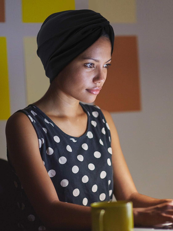 Yaomiao 2 Pieces Sleep Soft Turban Caps Printed Turban Hat Sleep Hat Headwears for Women