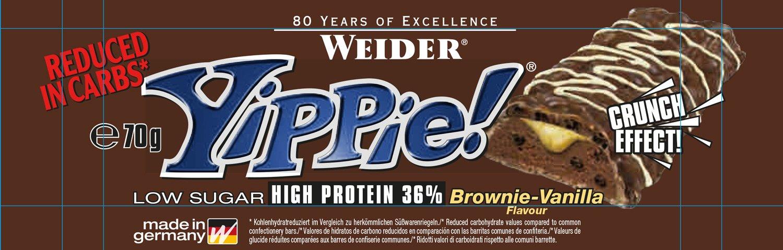 Weider Barrita Energética Brownie&Vainilla - 70 gr: Amazon.es: Salud y cuidado personal