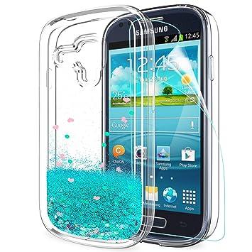 LeYi Funda Samsung Galaxy S3 Mini Silicona Purpurina Carcasa ...