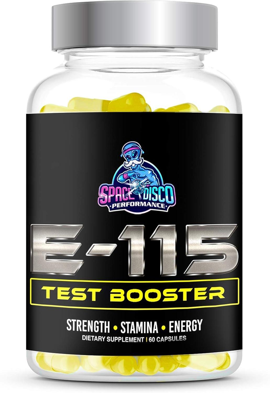 E-115 Test Booster Supplement | Tribulus Terrestris , L Arginine , Red Ginseng , Maca Root & Vitamin D | Made in The USA