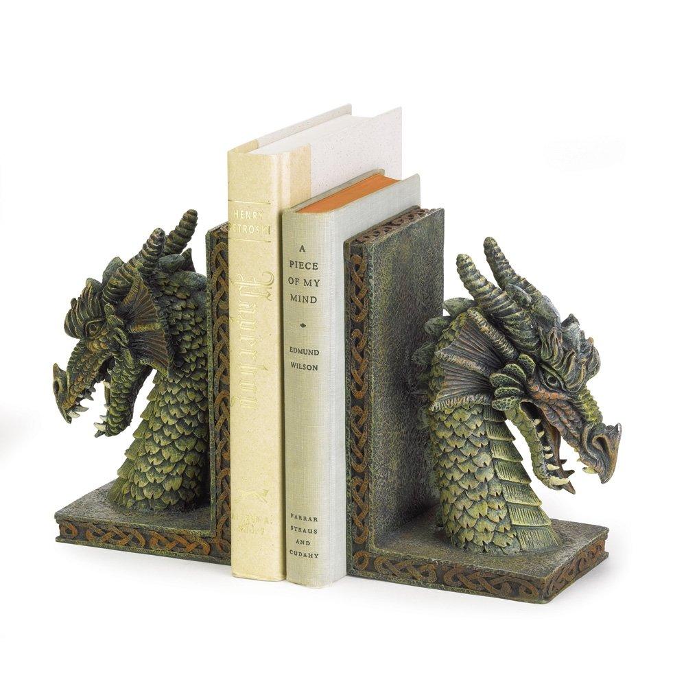 StealStreet SS-KHD-37978 10 Fierce Green Dragon Bookends Smart Living