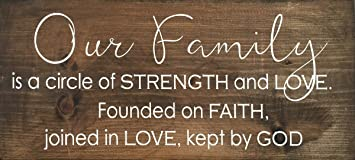 Amazoncom Sign Our Family Is A Circle Of Strength And Love