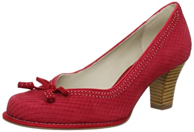 new style 090e9 174b0 Clarks Bombay Lights Closed Womens Red Rot (Cherry Red Snake ...