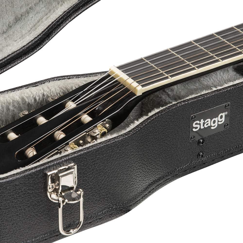 Stagg GEC-C - Estuche para guitarra clásica, color negro: Amazon.es: Instrumentos musicales