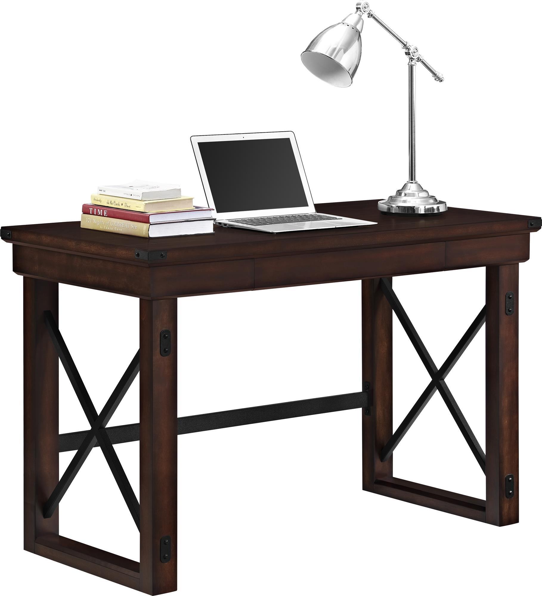 Ameriwood Home Wildwood Wood Veneer  Desk, Espresso by Ameriwood Home (Image #2)