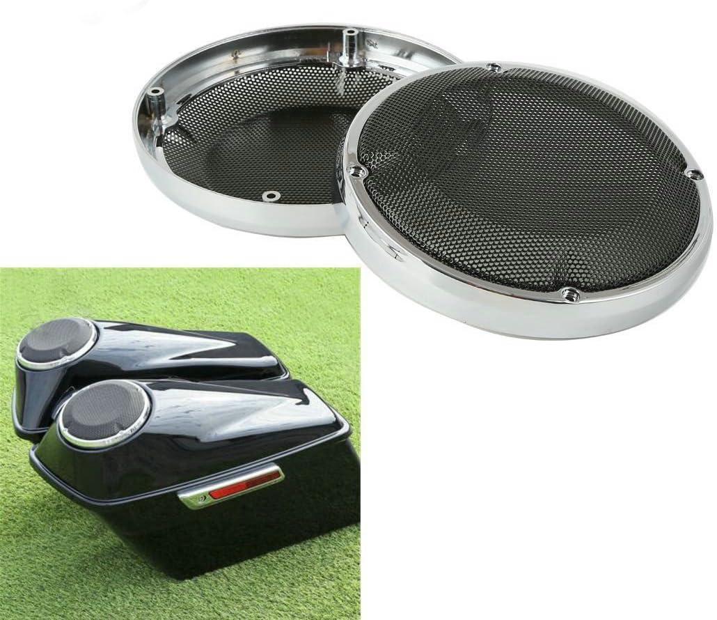 6.5 Chrome Vented Lower Fairing Speaker Grill For Harley Touring 88-17 FLHT