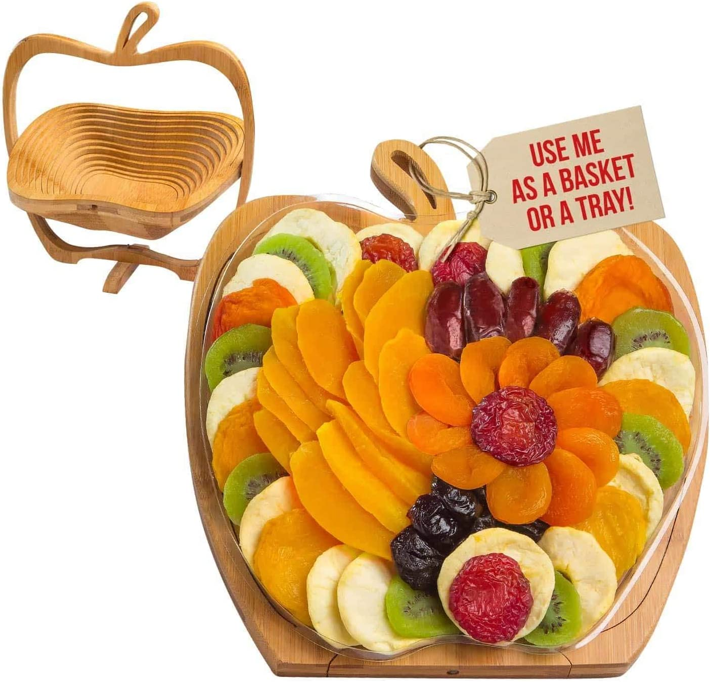 2 in 1 Creative Fruit Basket can be Turned into a Snack Tray to Store Nuts and Food Storage Boxes. Gifts for Family and Friends (Without Fruit Nuts)