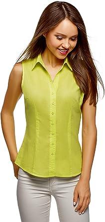 oodji Ultra Mujer Camisa Básica sin Mangas: Amazon.es: Ropa y accesorios