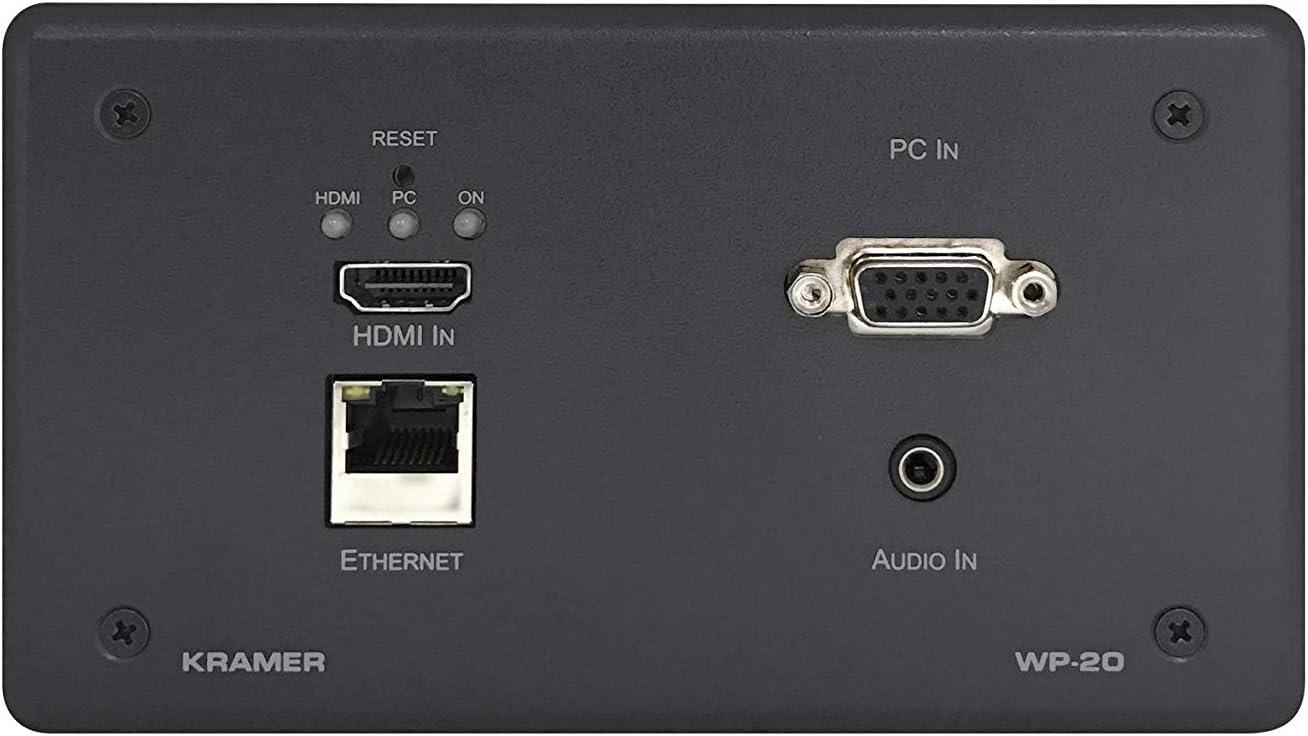 Kramer Electronics WP-20/EU(G)-80 caja de tomacorriente Gris - Caja registradora (151 mm, 80 mm, 40 mm, 300 g, 15,1 cm (5.94