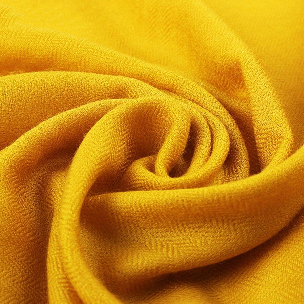 FUFU Sciarpa Sciarpa Scialle Donne Primavera E Autunno Inverno Superiore Molti Colori 230 * 90cm Rettangolare ( Colore : Giallo )
