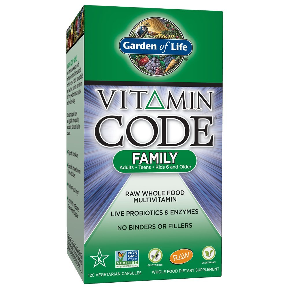 Garden of Life Family Multivitamin Supplement - Vitamin Code Raw Whole Food Multivitamin for Men, Women, and Kids, Vegetarian, 120 Capsules by Garden of Life