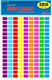 "Pack of 2016, 1/2"" x 3/4"" Rectangle Color Coding Dot Labels, 9 Bright Neon Colors, 8 1/2 x 11 Inch Sheet, Fits All Laser/Inkjet Printers, 144 Labels per Sheet, 0.5 x 0.75 Inches…"