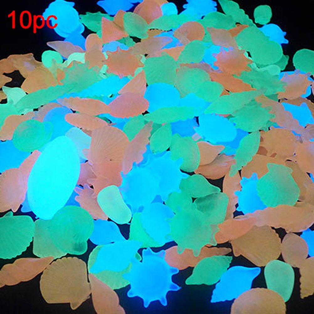 Hinmay Piedras decorativas para acuario, 10 unidades, brillan en la ...