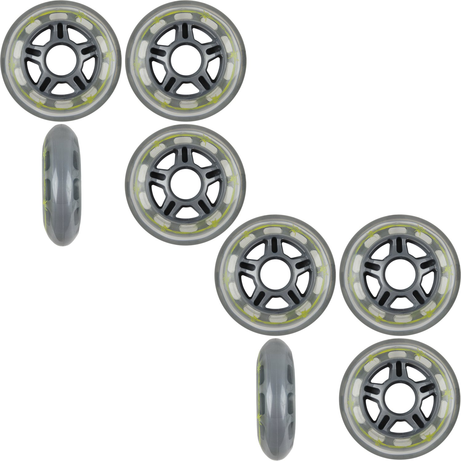 Pro Stock BARBED WIRE 80mm 79a Rollerblade INLINE Wheels 8-Pack