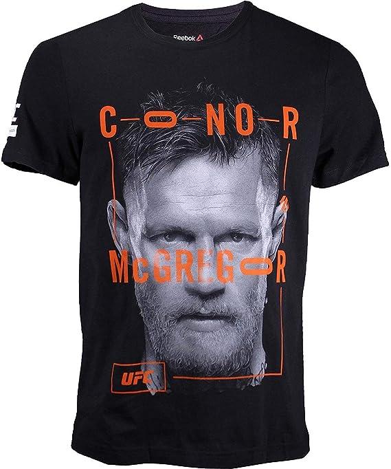 Reebok UFC Artista Serie Conor Mcgregor Camisa - S95431, Negro: Amazon.es: Deportes y aire libre