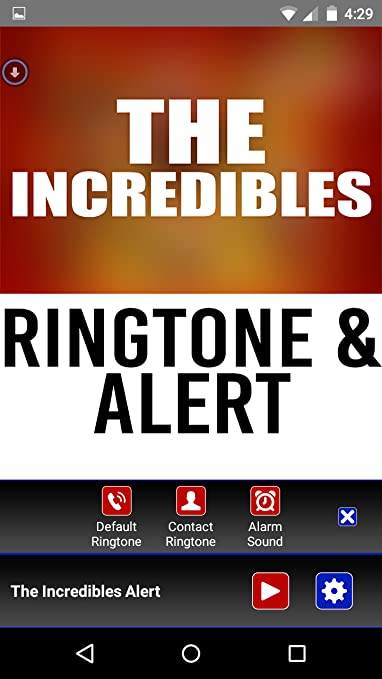 Amazon com: The Incredibles Theme Ringtone and Alert: Appstore for
