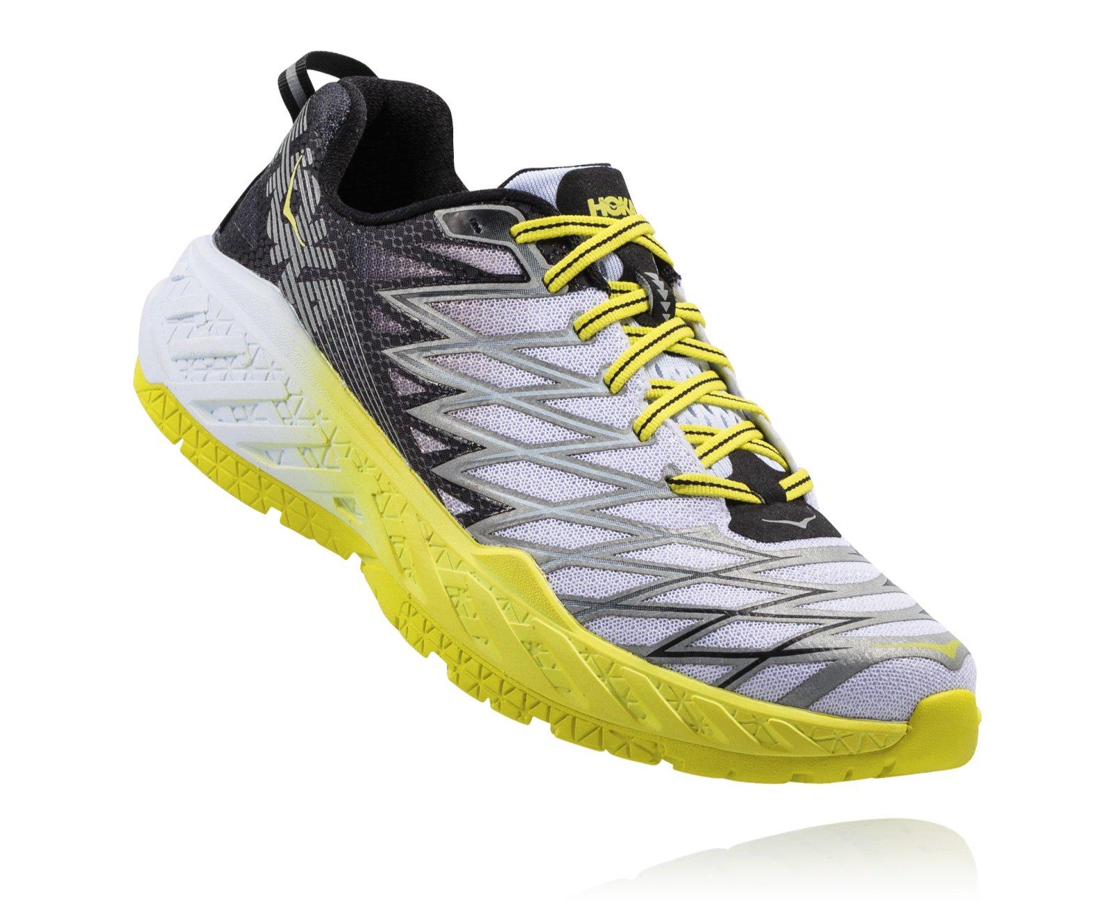 HOKA ONE ONE Men's Clayton 2 Speed Shoe (12.5, Black/Citrus)