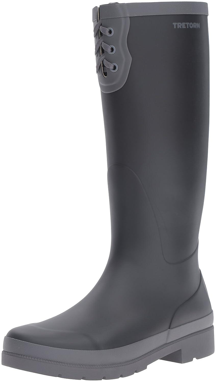 Tretorn Women's Lacey Rain Boot B01G6AJTLI 6 B(M) US|Black/Dark Grey