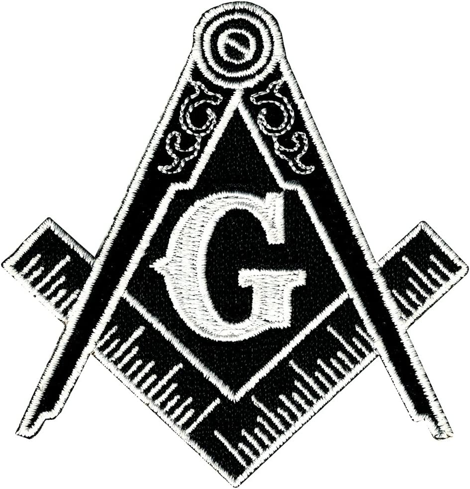 Freemason Masonic Square /& Compass Iron on Embroidered Patch applique #573