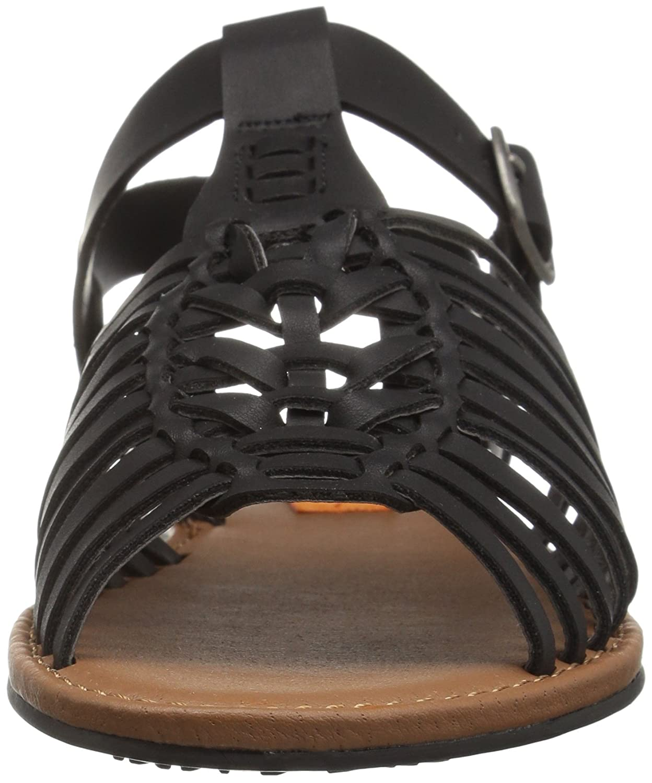 Rocket Dog Harp Sandale Damen Offener Spitze Synthetik Slingback Sandale Harp Schwarz 6c5492