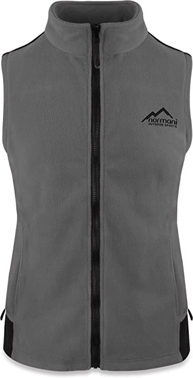 normani Fleece Weste für Damen mit Reißverschlusstaschen, Stehkragen, ZIP-T3K System